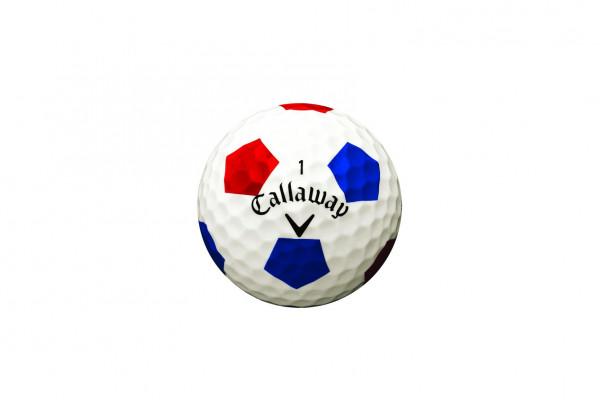 Callaway Chrome Soft Truvis Rot Blau Golfbälle