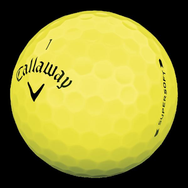 Callaway Supersoft 2019 gelb Golfbälle