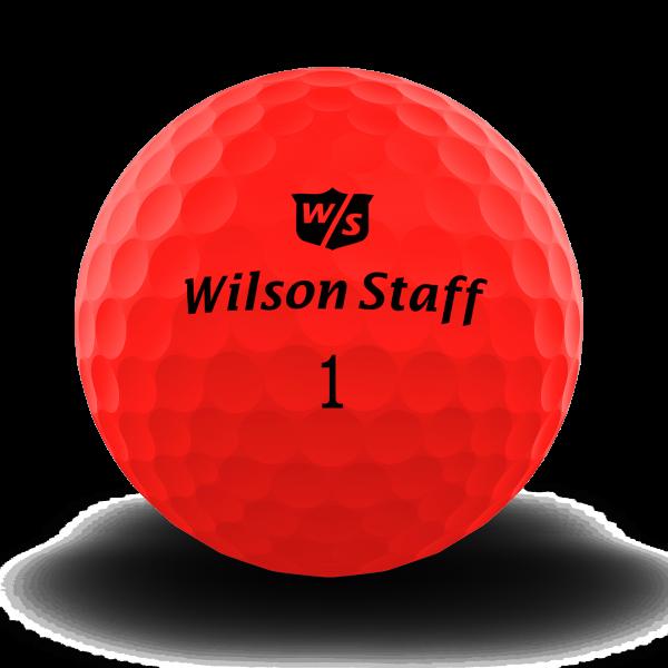 Wilson Staff DX2 Soft Golfbälle rot