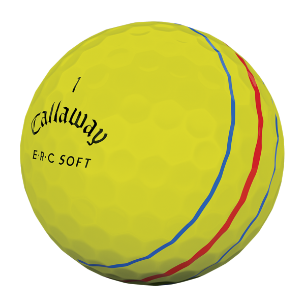 Callaway 2019 ERC Soft Triple Track Golfbälle gelb