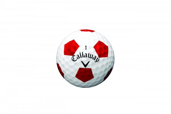 Callaway Chrome Soft Truvis Rot Golfbälle