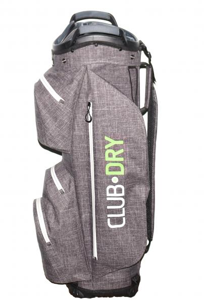 Keel ReOrg Cartbag CLUBDRY mit Klick-Organizer Ultraleicht und Wasserdicht Grau/Grün