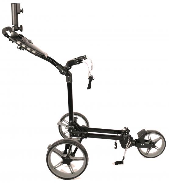 Push Trolley Keel Kolibri mit Mini-Packmaß Schwarz/Grau