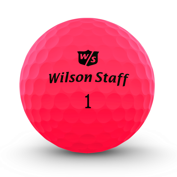 Wilson Staff DX2 Soft Golfbälle pink