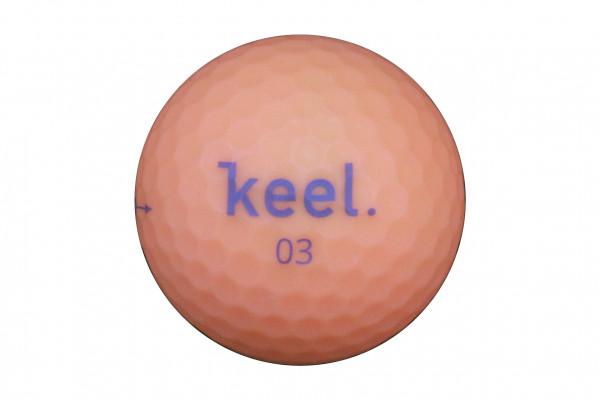 Keel Neverlost Premium 3-Layer Golfball Orange
