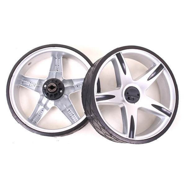 Caddyone Rad Modell 400 silber/rechts